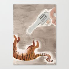 Man-Eating Tiger Canvas Print