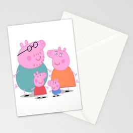 Peppa Family Stationery Cards
