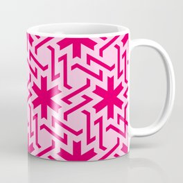 Abstract red-pink snow pattern Coffee Mug