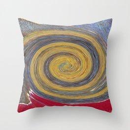 Swirl 02 - Colors of Rust / RostArt Throw Pillow