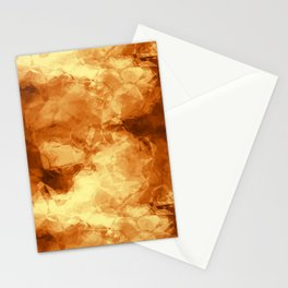 Rubbed Golden Copper Stationery Cards
