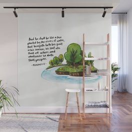 Psalm 1:3 Wall Mural