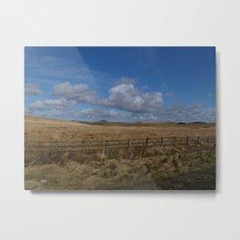 Cornish Field Metal Print