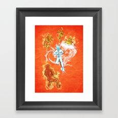 Elemental War Framed Art Print