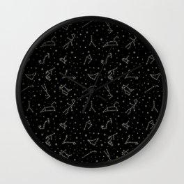 Western Zodiac Constellations Wall Clock
