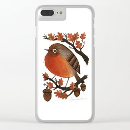 English Robin Clear iPhone Case