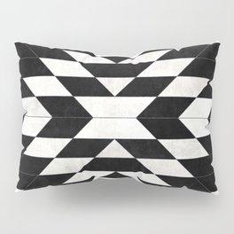 Urban Tribal Pattern No.14 - Aztec - Black Concrete Pillow Sham