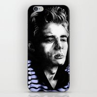 james franco iPhone & iPod Skins featuring James  by Lucy Schmidt Art