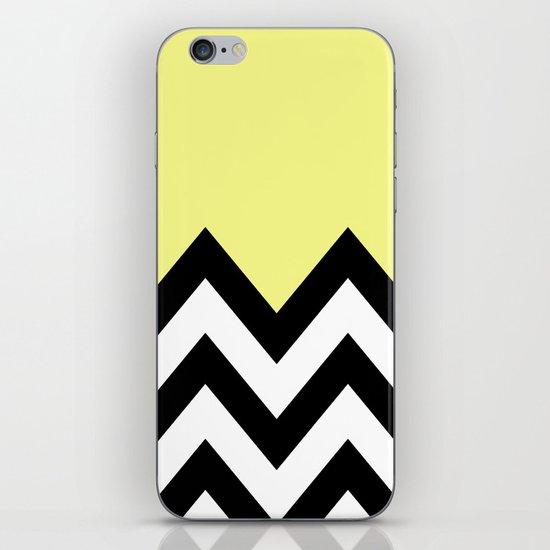 YELLOW COLORBLOCK CHEVRON iPhone & iPod Skin