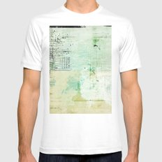 above sea level White Mens Fitted Tee MEDIUM