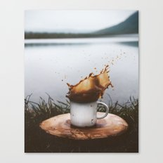 Splash of Coffee Canvas Print