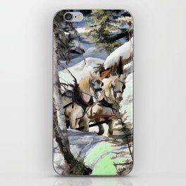 Horses in the Winter iPhone Skin