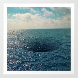 Sea hole Art Print