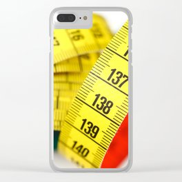 Measuring tape Clear iPhone Case