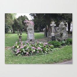 Graveyard, Bratislava Canvas Print