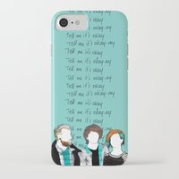 paramore iPhone & iPod Cases featuring Tell me it's okay by Marconte