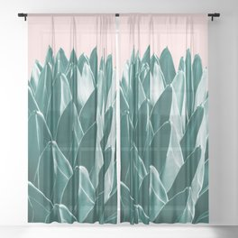 Agave Chic #1 #succulent #decor #art #society6 Sheer Curtain