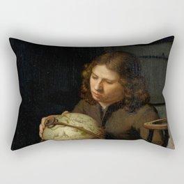 "Olivier van Deuren ""A Young Astronomer"" Rectangular Pillow"