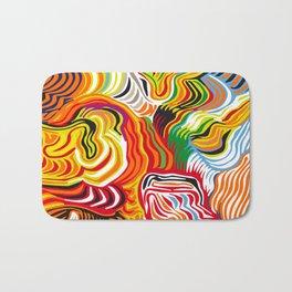 colored flow Bath Mat