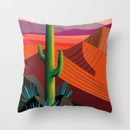Phoenix Arizona Travel Poster Throw Pillow