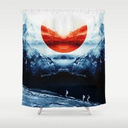 mission blue Shower Curtain