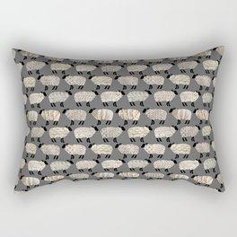 Wee Wooly Sheep in Aran Sweaters  Rectangular Pillow