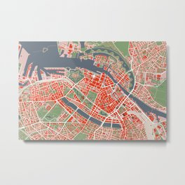 Copenhagen city map classic Metal Print