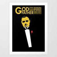 godfather Art Prints featuring GODFATHER by miszkurka