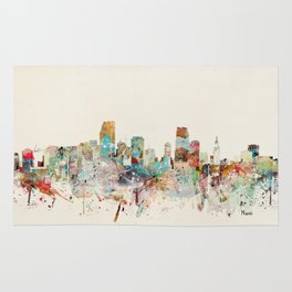 miami florida skyline Rug