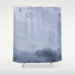 Contrasted Clouds Shower Curtain