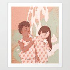 Lick Me Clean Art Print