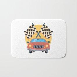 Automobile car checkered drive Bath Mat