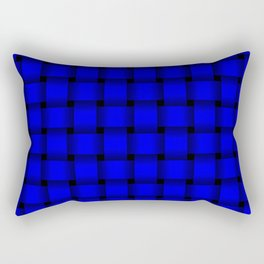 Blue Weave Rectangular Pillow