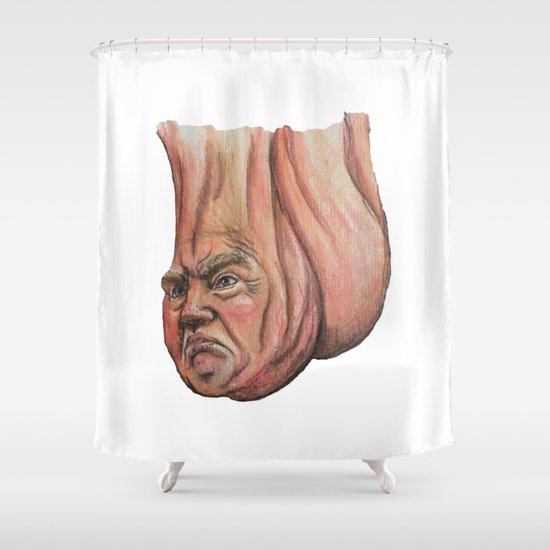Donald Trump As A Scrotum Shower Curtain By Bypepperana
