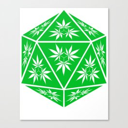D20 Pot Leaf Crit Dice Canvas Print