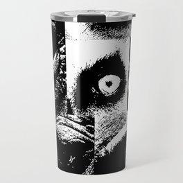 posterized head of eyes Travel Mug