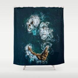 Sea Smile - Ocean Photography Shower Curtain