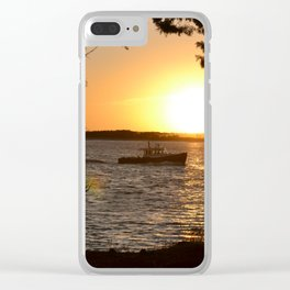 Sunset Scenery Clear iPhone Case