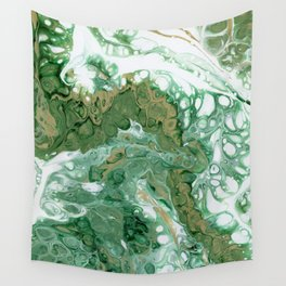 Team Splash, Green and Gold Wall Tapestry