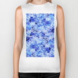 Alien Water - Abstract, crazy, textured, blue design Biker Tank