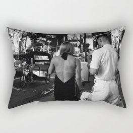 Times Square Couple Rectangular Pillow