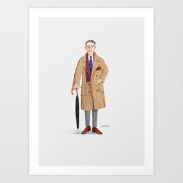 mr. Gray Art Print