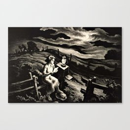Classical Masterpiece 'Letter from Overseas' by Thomas Hart Benton Canvas Print