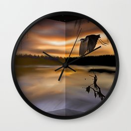 Great Blue Heron on the Bayou Wall Clock