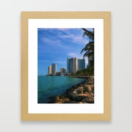 Brickell and Biscayne Bay Framed Art Print
