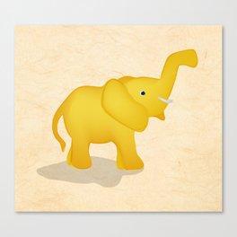 Golden Elephant Canvas Print