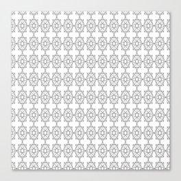 repeat triangle star plaid Canvas Print