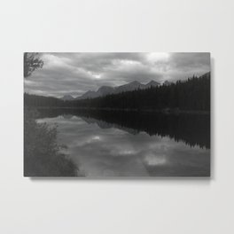 Lake Shadows - Canadian Rockies Metal Print