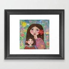 Mom and Daughter  Framed Art Print
