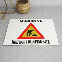 Warning Sign Rug